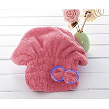 2019 bewelide Textile Microfiber Hair Turban Quickly Dry Hair Hat Wrapped Bath Towel Red