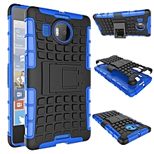 "For Nokia N950 XL Case, Hard PC+Soft TPU Shockproof Tough Dual Layer Cover Shell For 5.7"" Microsoft Lumia 950 XL, Blue"