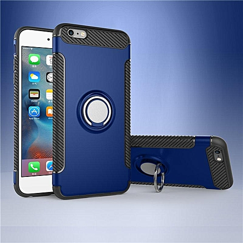 KZ Slim Fit Hybrid Dual Layer Armor Shock Absorption Rugged Defender with Ring Holder Kickstand Drop Protection Soft Rubber Bumper Case Cover for iPhone 6 / 6s   XXZ-Z