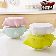 4 PCS Food Grade Silicone Protection Fresh Cover, Random Color Delivery