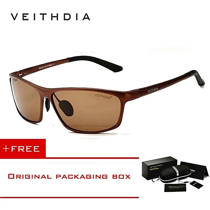 09b10e3a4bd VEITHDIA Brand Polarized Aluminum Magnesium Wrap Mens Sun Glasses Male  Sport Outdoor Sunglasses Mirror Eyewear For