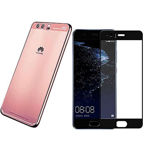 low priced 9da1d 8d8a3 For Huawei P10 Plus Clear Soft Tpu Phone Case With HD Anti Blue-Ray Full  Coverage Tempered Glass/Luxury Ultra Thin Plating Crystal Transparent ...
