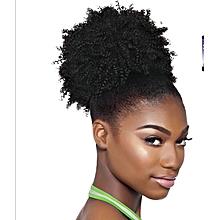 Medium size Spring curls Kinky Hair Bun Extension Colour #1 + FREE gift Inside!