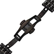 Luxury Stainless Steel Link Bracelet Watch Band Strap For Huawei Watch 2 BK-Black