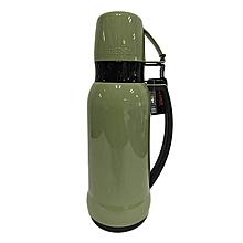Mars - Glass Vacuum Insulated Flask - 1.0L- Green