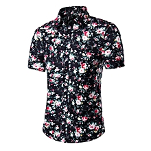 Men's Fashionable Casual Floral Print Shirts Hawaiian Short Sleeve Printed Shirts
