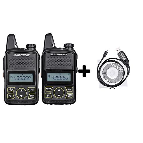 4ce9c4468d5 Generic 2pcsBF-T1 MINI Kids Walkie Talkie UHF Portable Two Way Radio FM  Function Ham T1 Walkie Talkie USB HF Transceiver