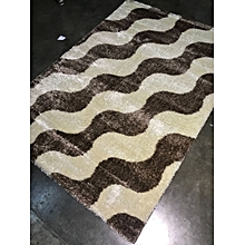 Fluffy /shaggy carpet 8ft by 11 ft  -Cream&Brown