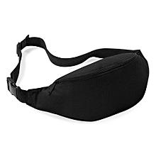 Unisex Bag Travel Handy Hiking Sport Fanny Pack Waist Belt Zip Pouch BK