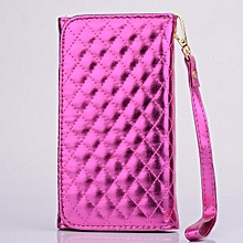 Universal Large Bling Leather Card Slot Wallet Case For Mobile Phone