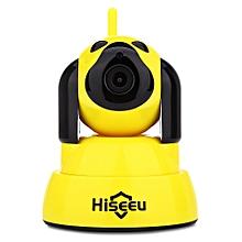 Hiseeu HSY - FH4 720P WiFi IR CUT Indoor IP Camera YELLOW US PLUG