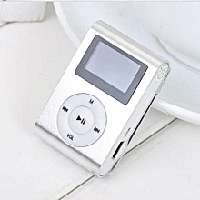 Portable Mini USB MP3 Player LCD Screen Display Support TF Card 3.5mm Jack silver