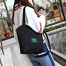 Women's Fashion Solid Canvas Crossbody Shoulder Bags Large Totes BK