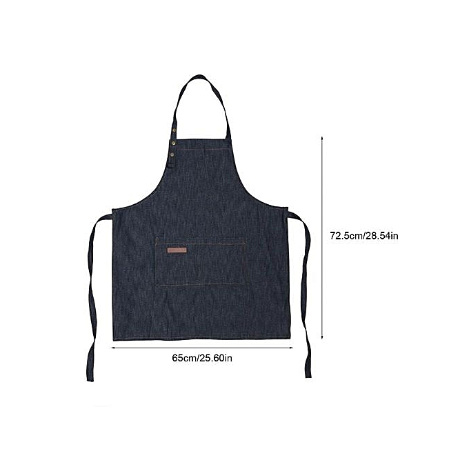 Adjustable Buckles Style Apron Kitchen Cooking Coffee Shop Waitress Work Uniform Household Cleaning