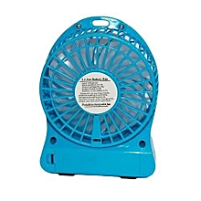 Rechargeable Mini Portable Fan with Power Bank - Blue