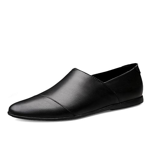 90eb9627d3 Generic Spring 2019 Men s Leisure Leather Shoes Men s British First-Class  Cowhide Men s Shoes Breathable Single Shoe Overlay Shoe Moisture