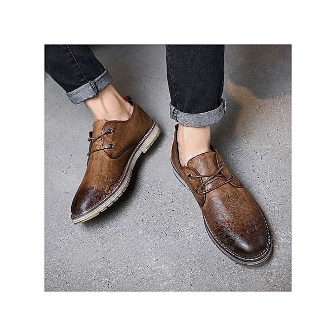 30760c4d6 Fashion 2019 New Men s Shoes Slippers Leather Shoes   Casual Shoes ...