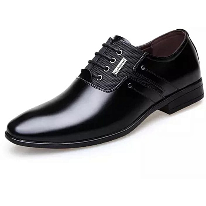 Generic Men's Official Pure Leather Shoes-Black @ Best