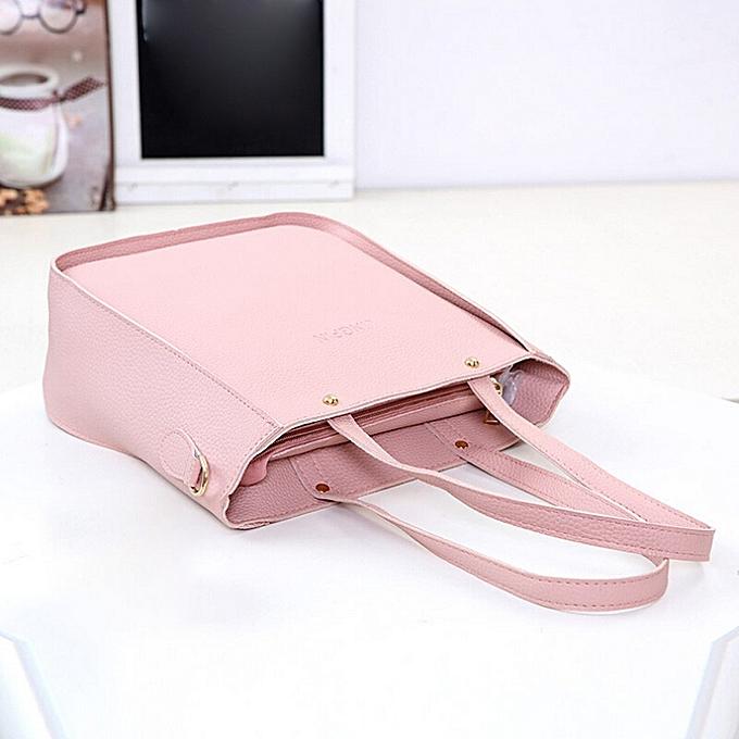 39274ac2ae2 koaisd Women Bag Three Sets Large Capacity Shoulder Bag Messenger Mobile  Handbags PK