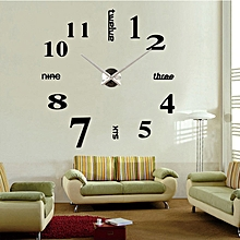 Clock Watch Wall Clocks 3d Diy Acrylic Mirror Stickers Home Decoration Living Room Quartz Needle