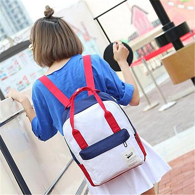 a1d610eb2b Women Canvas Backpack Travel Satchel Rucksack Girls Shoulder School Bag  Handbag Red White