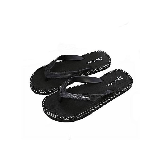 ccc37427767c Jiahsyc Store Men Summer Shoes Sandals Male Slipper Indoor Or Outdoor Flip  Flops BK 40