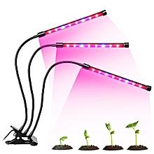 36W USB 3 Tube Head Clip-on LED Grow Light Dual Plant Lamp Lights UK Plug