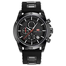 Fashion Luminous Quartz Man Watch Water-Proof Silicone Band Men Casual Wristwatch Chrono Sports Style Masculino Relogio + Box