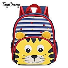 Kid 3D Cartoon Animal Zoo Print Backpack - 01#