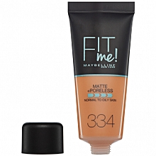 Maybelline Fit Me Matte And Poreless Foundation 30 ml - 334 Warm Tan