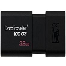 Kingston DT100G3 USB3.0 32GB USB Flash Drive/Pendrive/Thumb Drive (Black) LJMALL