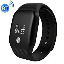 0.66 inch OLED Touch Screen Bluetooth Smart Bracelet, Support Blood Oxygen Monitor / Hear Rate Monitor / Pedometer / Calls to Remind / Sleep Monitoring - Black