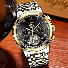 New 2018 LIGE Brand Watch Men Top Luxury Automatic Mechanical Watch Men Stainless Steel Clock Business Watches Relogio Masculino 9813