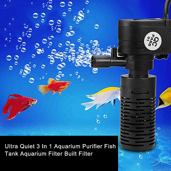 Buy generic ultra quiet 3 in 1 aquarium purifier fish tank for Fish tank with built in filter