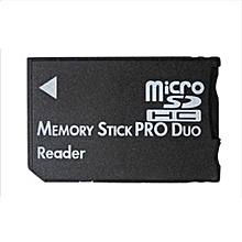Micro SD SDHC TF To Memory Stick MS Pro Duo PSP Card Reader Adapter Converter (Black)
