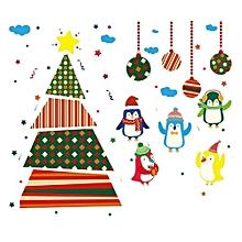 Christmas Removable Ball Vinyl Home Window Decals PVC Sticker Decor 60x90cm (Multicolor (Penguin))