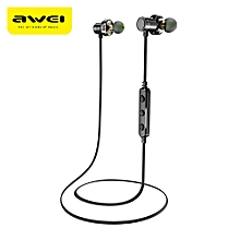 Awei X670BL Dual Drivers Magnetic IPX4 Wireless Bluetooth Earbuds Earphone-BLACK