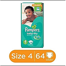 BABY DIAPERS.JUMBO PACK,  SIZE 4(7-13kgs) 64 PIECES
