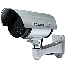 Multifunctional Dummy CCTV Security CCD IR Camera with Red LED Blinking Light for Indoor / Outdoor Surveillance SILVER