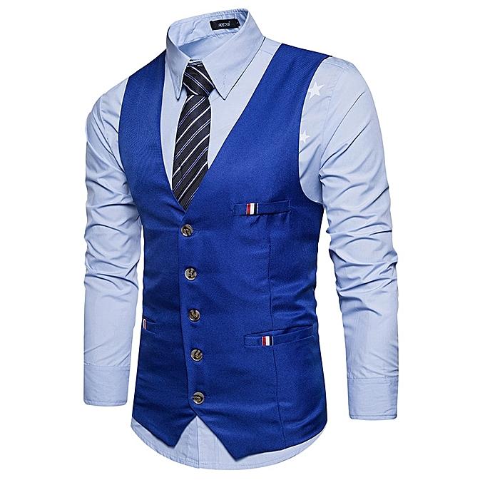 ... Men Casual Slim Fit Single Breasted Tuxedo Vests Waistcoats Men  Chalecos Para Hombre-navy blue ... eec1ae2a6532