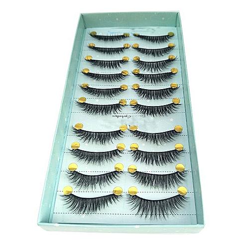 24db8f51c44 NEW 10 pairs 100% Real Mink Eyelashes 3D Natural False Eyelashes 3d Mink  Lashes Soft
