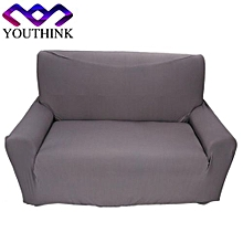 2 Seater Sofa Anti-mite Soft Couch Slipcovers Grey