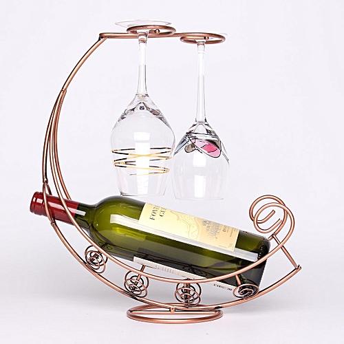 Buy Generic Creative Fashion Metal Wine Rack Hanging Wine Glass