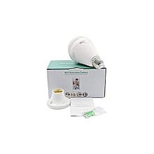Wi-Fi Camera Bulb, Smart LED Bulb 360° Camera -  white