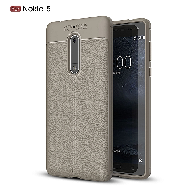 the best attitude cc178 47b3c Nokia 5 Silicone Case, Litchi Pattern TPU Anti-knock Phone Back Cover For  Nokia 5 - Gray.