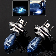 HOD H4 Halogen Bulb, Super White Car Headlight Bulb, 12 V, 90 /100W, 6000K 2400 LM (Pair)