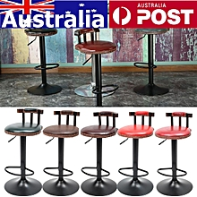 Adjustable Retro Metal Craft Bar Stool Furniture Swivel Cafe Counter Chair 250LB Brown Blackish green