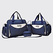 5 in 1 Baby Diaper Bag - Navy Blue