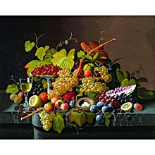 Canvas Print Still Life Wall Picture 50X40cm Rolled -  Fruits Still Life II