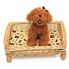 Hand Woven Wicker Pet Bed Cat Dog Basket Extra Cute Pillow Sleeping Cushion Pad 2XL size